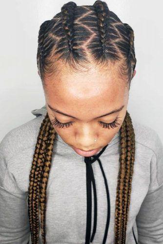 Sharp Zig-Zag Braids #cornrowbraids #braids