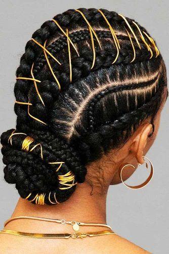 Tied Braided Low Bun #updo #cornrowbraids #braids