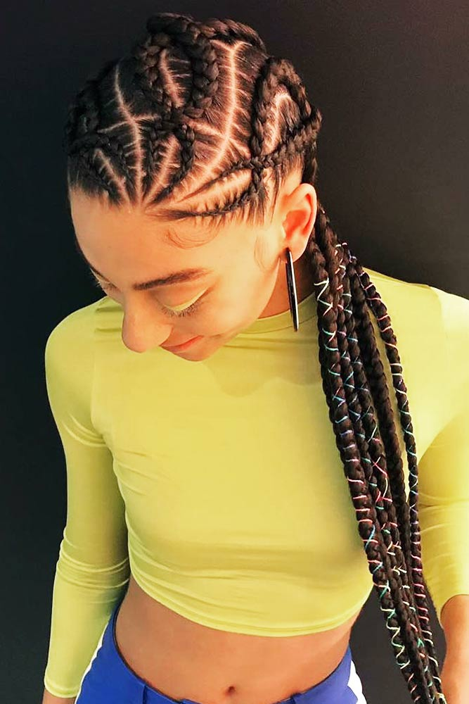 """X Marks The Spot"" #cornrowbraids #braids"