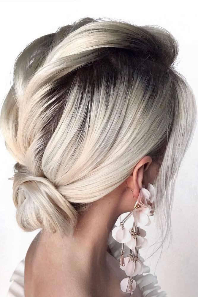 Easy Low Bun #hairbun #shorthair #bunhairstyles #hairstyles