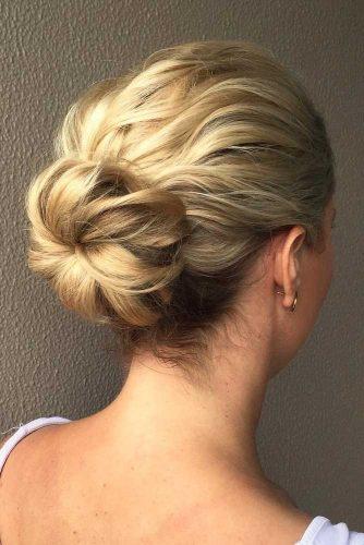 Chic Ballerina Bun #hairbun #shorthair #bunhairstyles #hairstyles #blondehair