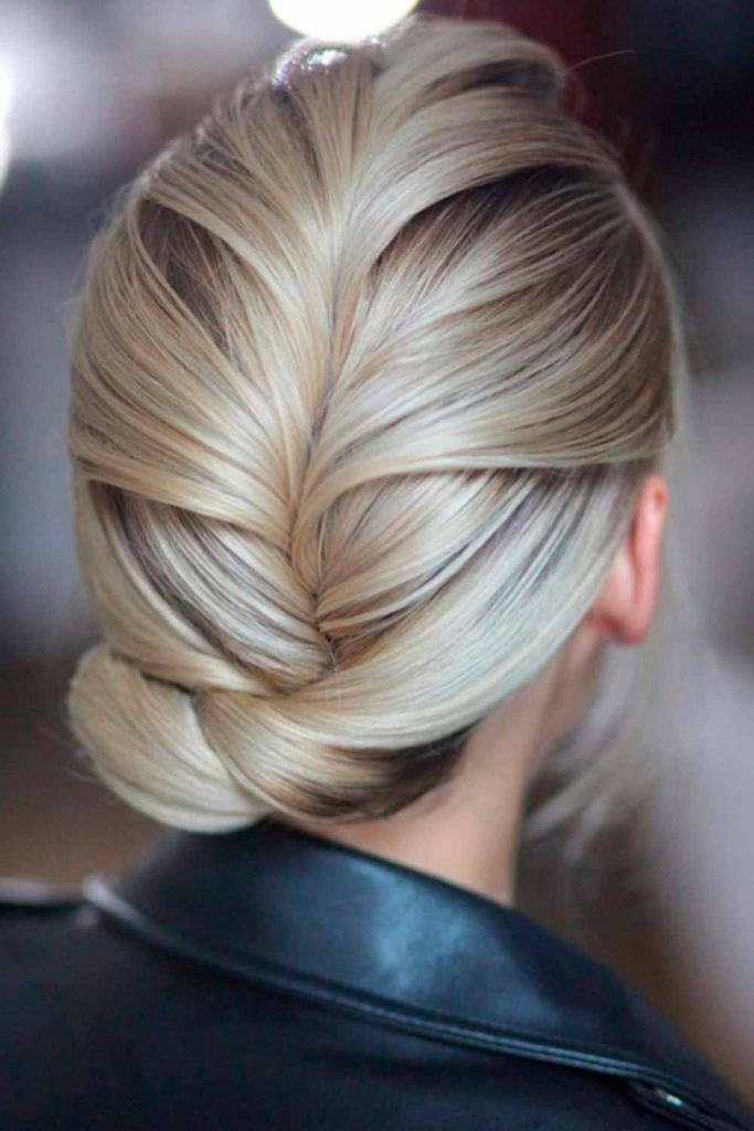 Girly Low Braided Bun