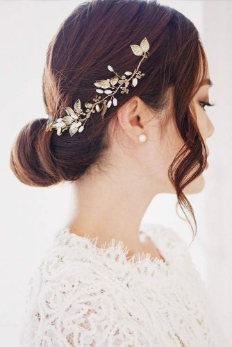 Accessorized Low Bun For Special Occasions #hairbun #shorthair #bunhairstyles #hairstyles #brownhair