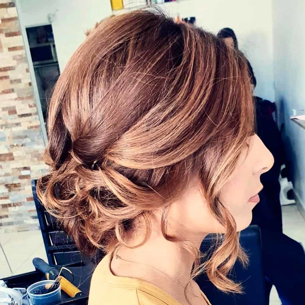 Low Bun For Wavy Hair