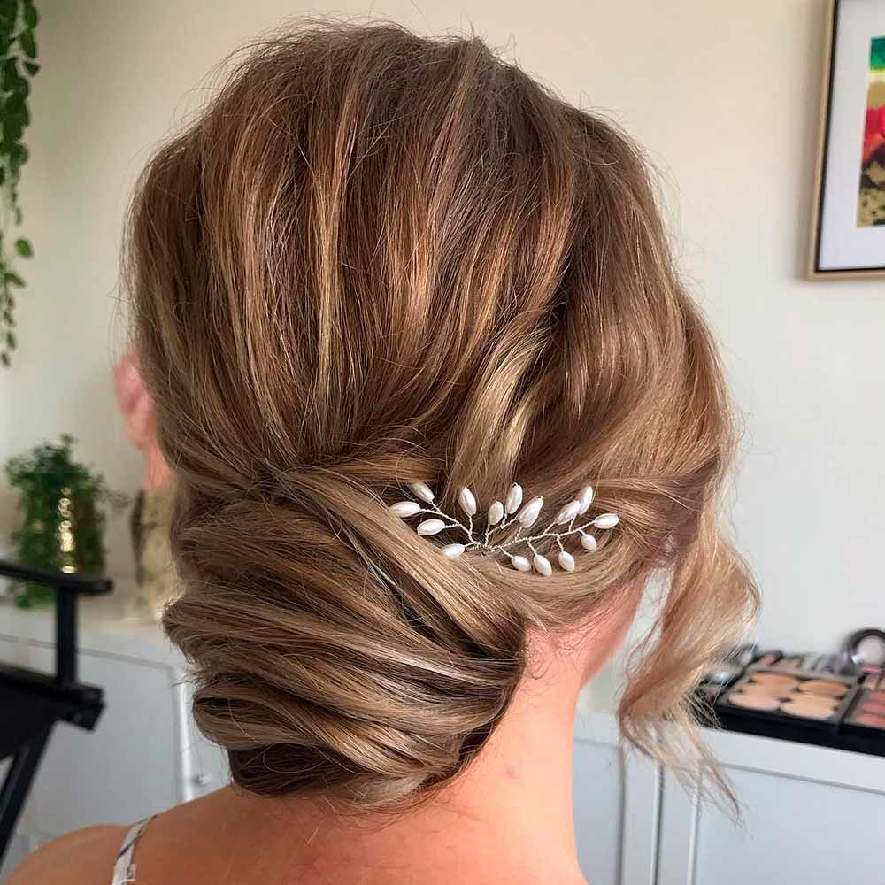 Messy Low Bun With Accessories