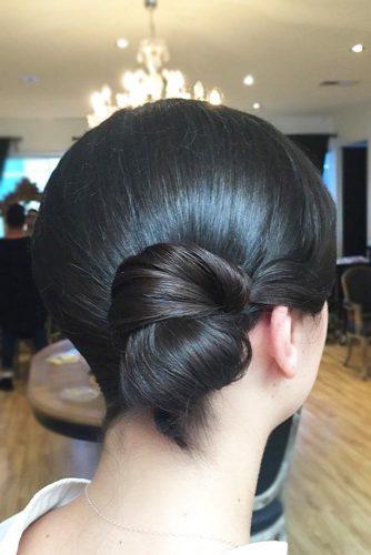 Silky And Polished Side Bun #hairbun #shorthair #bunhairstyles #hairstyles #blackhair