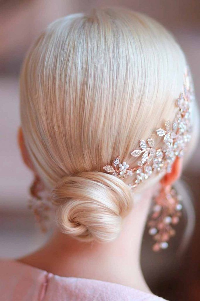 Accessorized Low Bun For Special Occasions