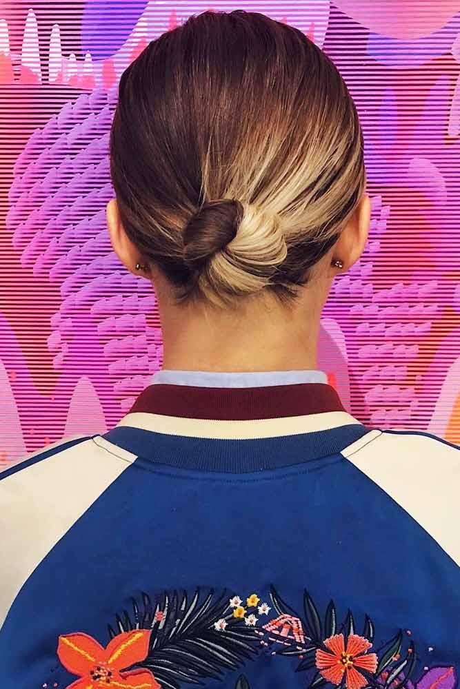 Sleek Low Bun #hairbun #shorthair #bunhairstyles #hairstyles #lowbun