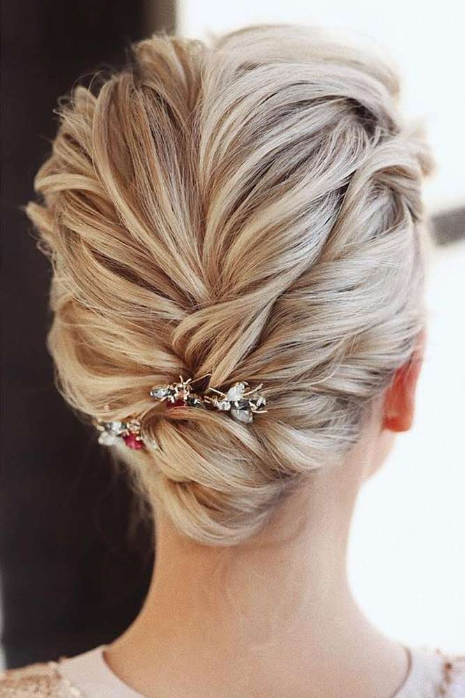 Accessorized Low Bun For Special Occasions #hairbun #shorthair #bunhairstyles #hairstyles