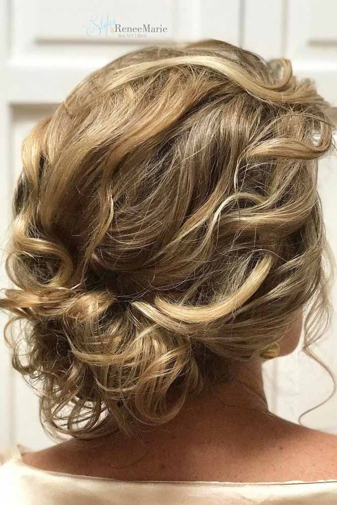 Wavy And Messy Twisted Updo #hairbun #shorthair #bunhairstyles #hairstyles #blondehair
