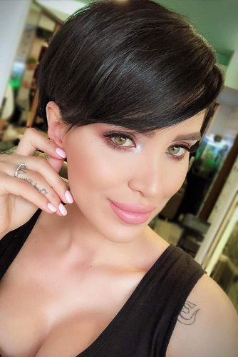 Make Your Bangs Look Soft #shorthairstyles #shorthair #hairstyles #pixiehaircut #blackhair