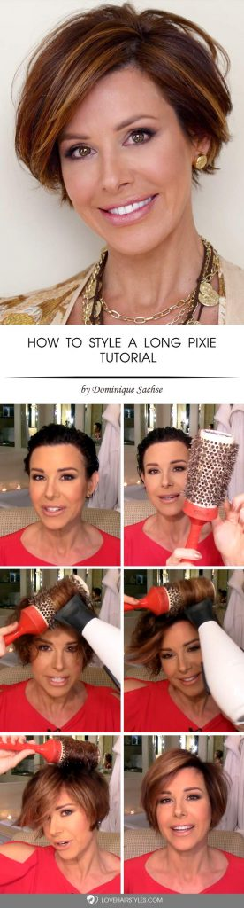 How To Style A Long Pixie #shorthairstyles #shorthair #hairstyles #pixiehaircut #auburnhighlights
