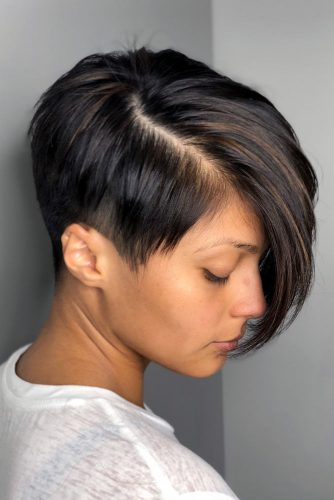 Asymmetrical Pixie With Undercut #shorthairstyles #shorthair #hairstyles #pixiehaircut #undercut