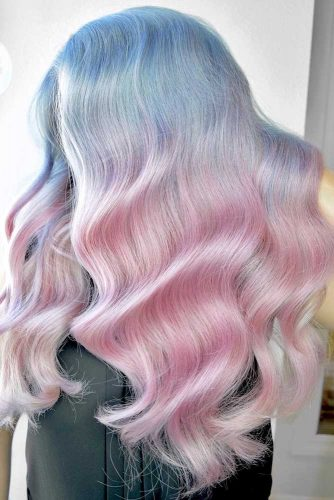 Funky Blushed Bahamas Ombre #pinkhair #bluehair #ombre