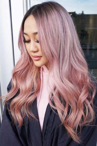 Cold To Warm Pastel Pink Balayage #pinkhair