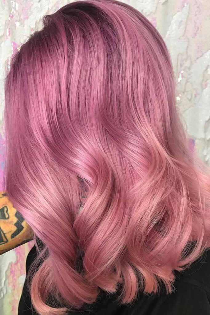 Cold-To-Warm Pastel Pink Balayage #pinkhair #pastelpinkhair