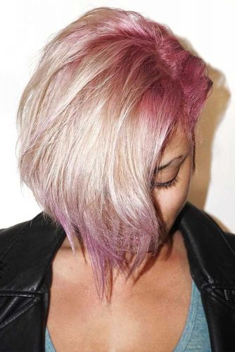 Fancy Pink Highlights Underneath Hair #pinkhair #highlights