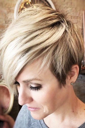 Long Bang Pixie #shorthair #layeredhair #pixie