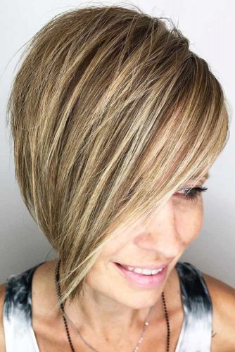 Side Pixie Styling For Thick Hair #shorthair #straighthair #bob