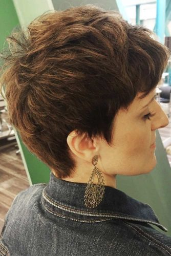 Messy Styling For Short Pixie #pixie #shorthair #layeredhair