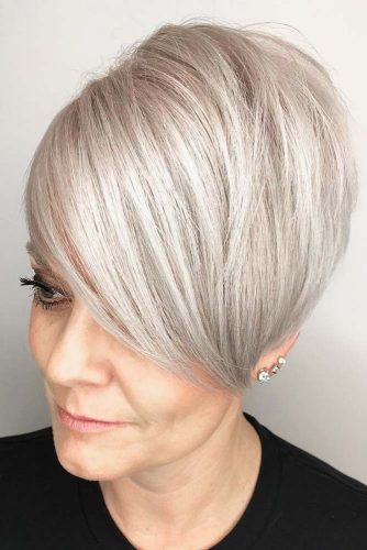 Long Platinum Blonde Pixie #pixie #platinumblonde #shorthair