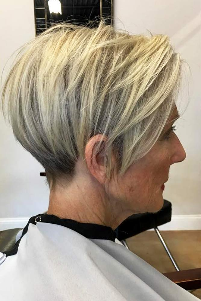 Long Layered Pixie #pixiehaircuts #haircuts #hairstylesforwomenover50 #shorthaircutsforwomenover50