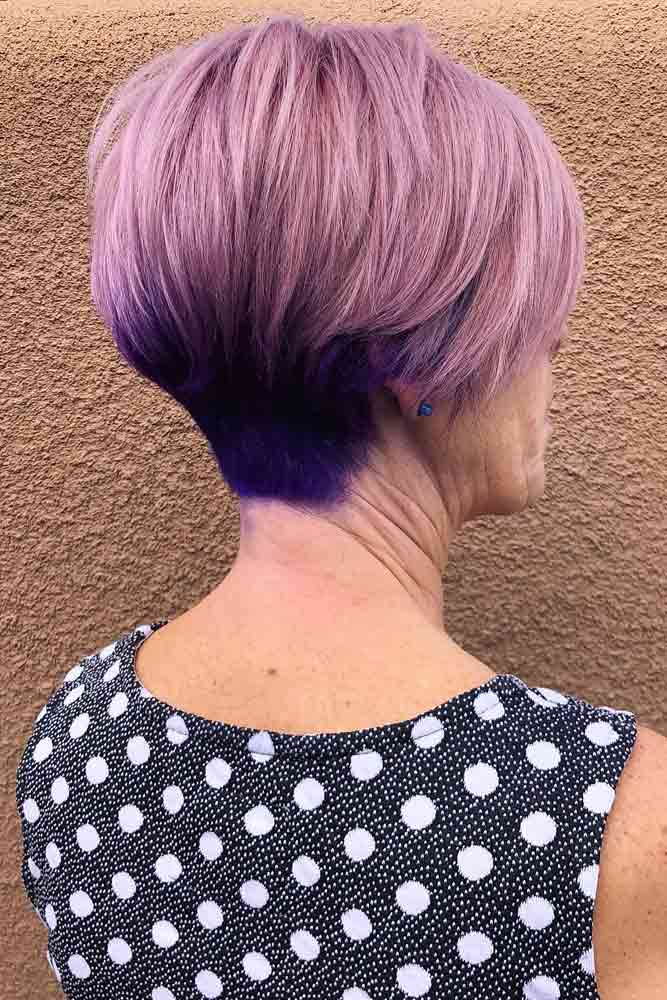Side Part Pixie With Long Bang #bangs #pixie
