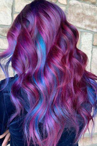 Shiny And Silky Purple Hair  #purplehighlights #highlights #haircolor