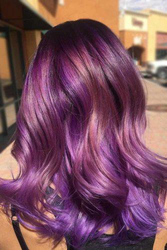Fairy Like Mermaid Hair #purplehighlights #highlights #haircolor #wavyhair #longhair