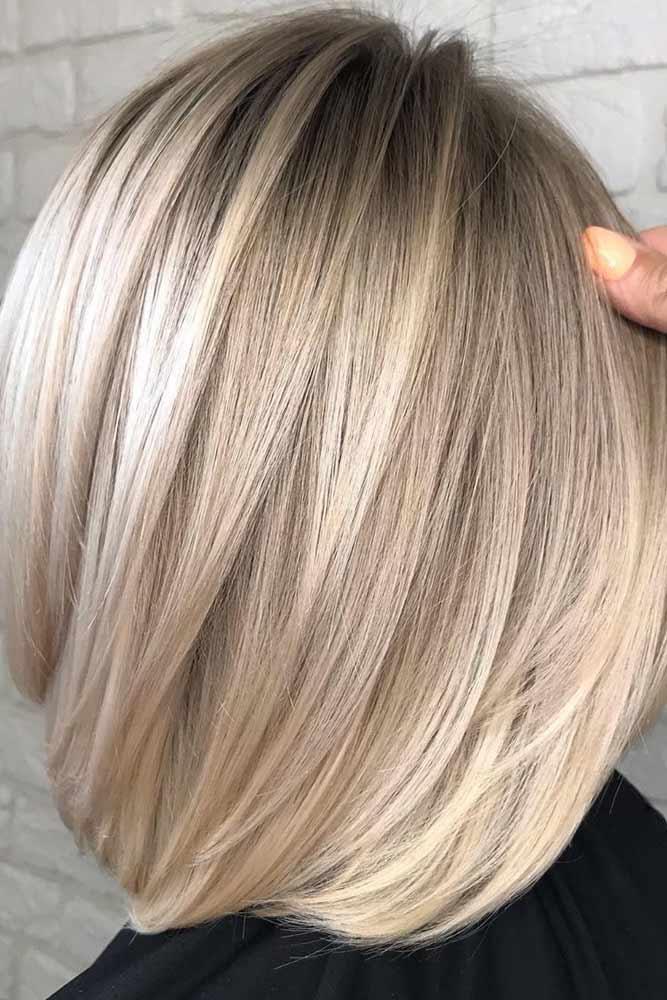 Straight Blonde Blunt Lob #bobhairstyles #bobhaircuts