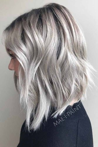 Freezing Silvery Blonde Bob #silverhair #platinumblonde #layeredhair #invertedbob