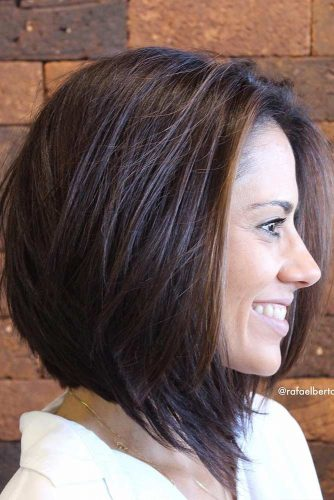 Face Framing A line Bob #straighthair #hairtype #hairstyles #bobhaircut #brownhair