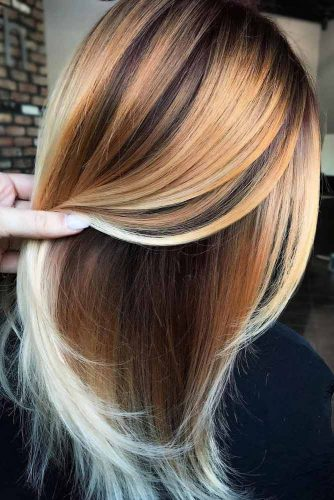 Copper Tones For Long Straight Hair #straighthair #hairtype #hairstyles #longhair