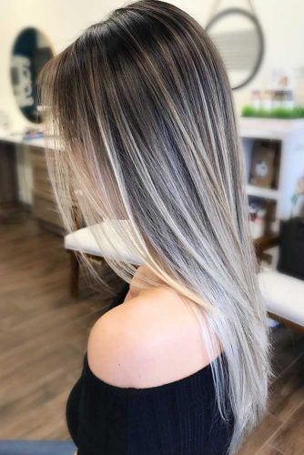Straight Hair With Blonde Ombre #straighthair #hairtype #hairstyles #longhair #blondeombre
