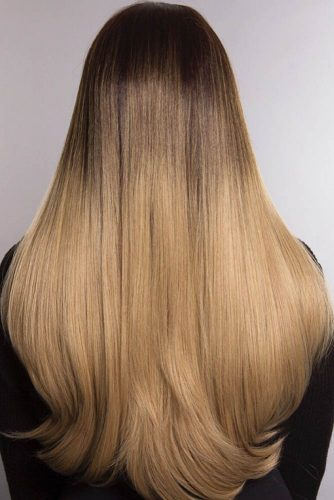 Gorgeous Ombre For Long Hair #straighthair #hairtype #hairstyles #longhair #chestnutombre