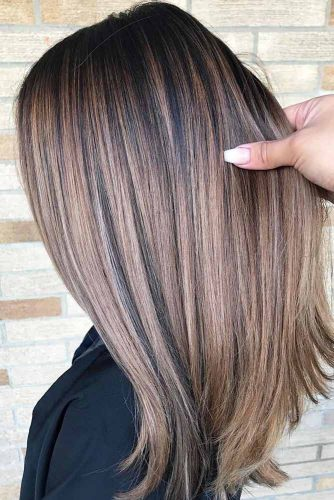 Lovely Long Straight Hairstyle #straighthair #hairtype #hairstyles #longhair #chocolatehighlights