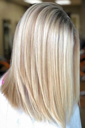 Straight Hair With Blonde Balayage #straighthair #hairtype #hairstyles #mediumlength #blondebalayage