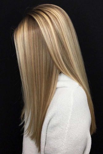 Straight Blonde Long Hair #straighthair #hairtype #hairstyles #longhair #blondehair