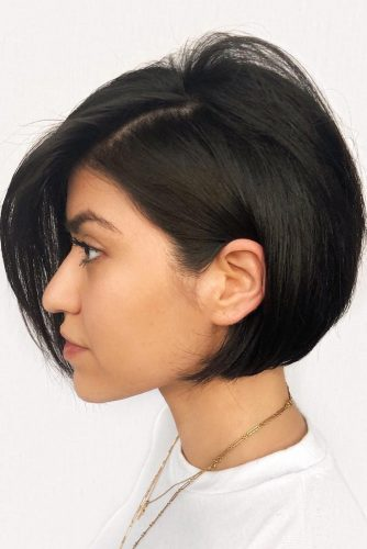 Black Straight Short Bob #straighthair #hairtype #hairstyles #bobhaircut #blackhair