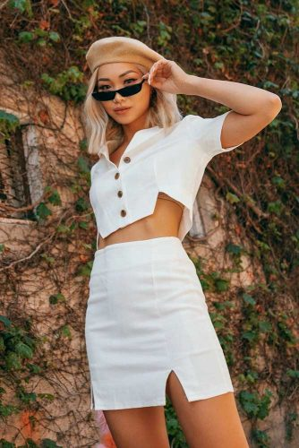 Long Bob Stylish Beret #outfits #summeroutfits #longbob #blondehair