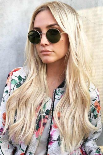 Long Layers With Round Sunglasses #longhair #layeredhair
