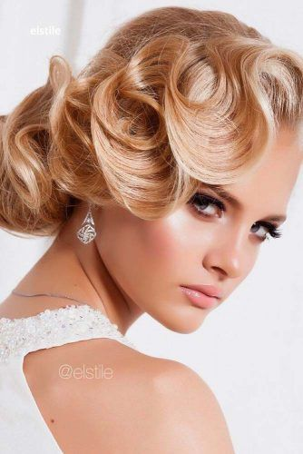 Finger Waves Updo #weddingupdo #weddinghair #hairstyles #updohairstyles
