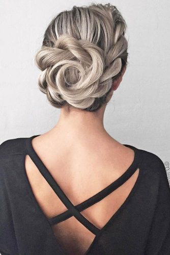 Creative Updos For A Stunning Look #weddingupdo #weddinghair #hairflower #braids
