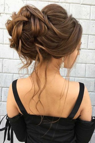 A Voluminous Updo For Long Hair #weddingupdo #weddinghair #longhairstyles