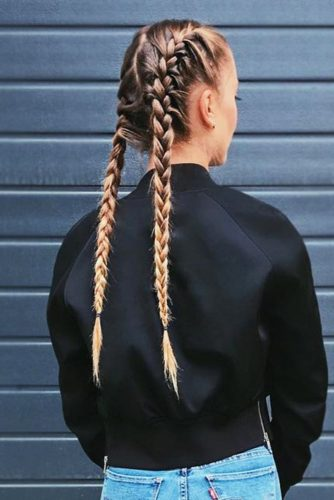 Tight Long French Braids #blondehair #longhair #braids