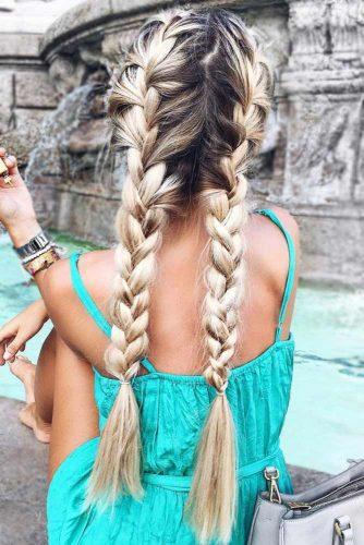 Loose French Braids #longhair #messyhair #braids