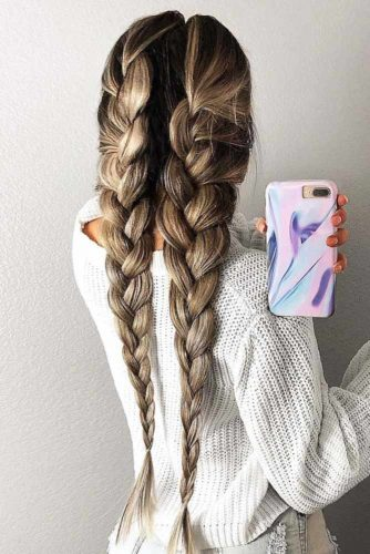 With Extensions For Your Braids #brunette #longhair #braids
