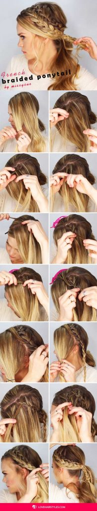 How To Make A Double Braided Ponytail #braids #hairtutorial #ponytail