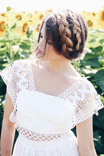 A Both Informal And Formal Braided Hairstyle #longhair #brownhair #updo #braids