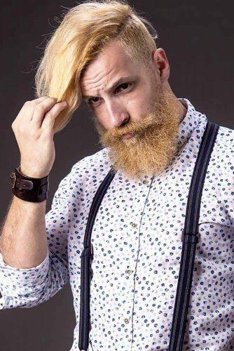 True Viking Style #menshaircuts #blondhair #longtop #fullbeard